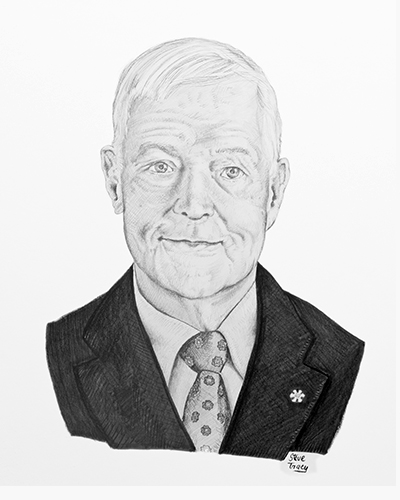 Sketch of Michael Bliss