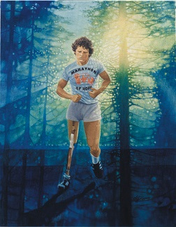 Terry Fox painting