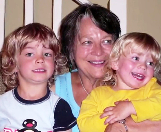 Picture of Judith Hall and family