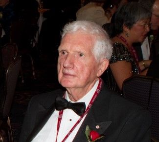 Dr. Charles Scriver at the 2012 Induction
