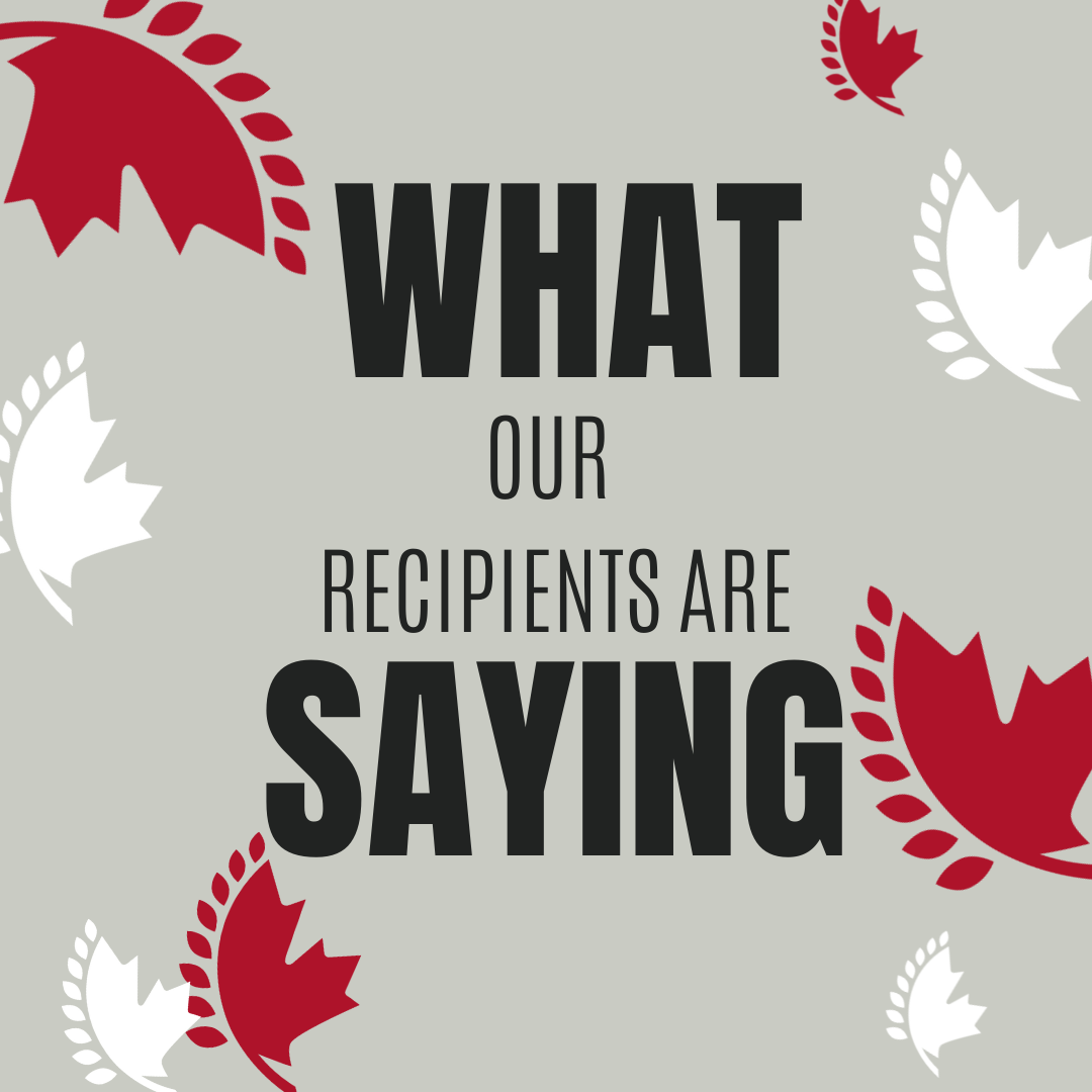 What our recipients are saying
